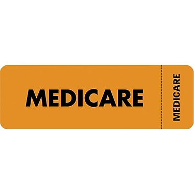 Tabbies® Insurance Labels, Medicare, Orange
