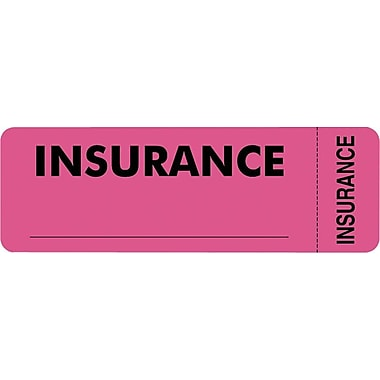 Tabbies® Insurance Labels, Insurance, Pink