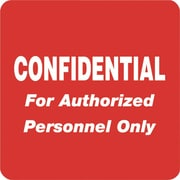 Tabbies® HIPAA Confidential For Authorized Personnel Only Label, Red