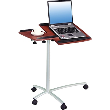 TechniMobili Adjustable Mobile Laptop Desk, Mahogany