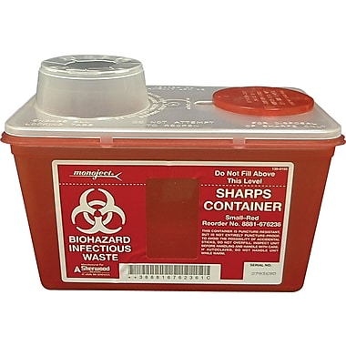 Unimed Sharps Chimney Top Container, 4 Quart
