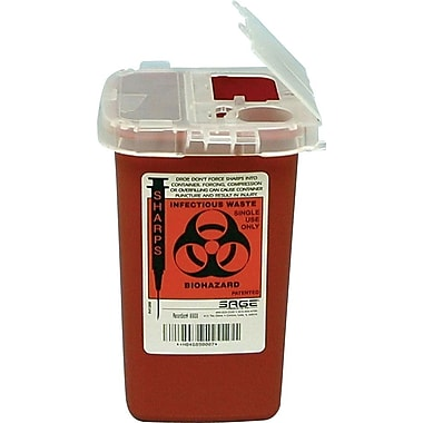 Unimed Sharps 1 Quart Phlebotomy Container with Clear Lid