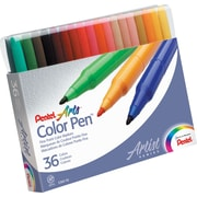Pentel® Color Pens™, Fine Tip, 36/Pack
