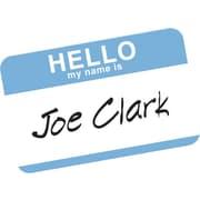 "Avery® Print-or-Write Name Tags, ""HELLO"" Blue Border, 2 11/32"" x 3 3/8"""