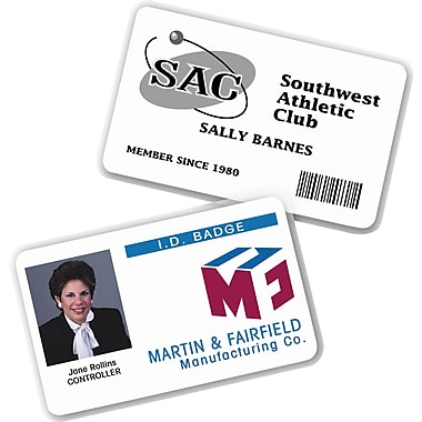Avery® Self-Laminating Name Badges with Clips, 2in. x 3 1/4in.