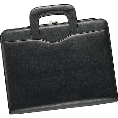 Day-Timer® Avalon Leatherlike Attache Starter Set, Zip Closure, Black, Folio Size