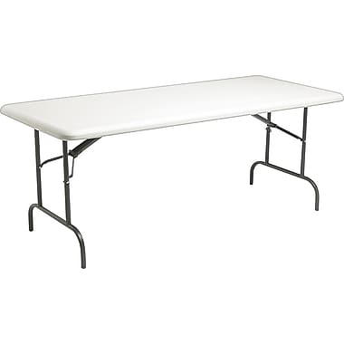 Iceberg 6'  Heavy-Duty Commercial Resin Folding Banquet Table, Platinum Granite