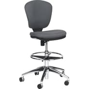 Safco Metro Extended Height Swivel/Tilt Chair, Gray Fabric