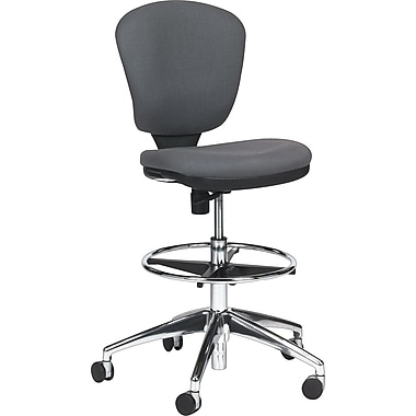 Safco Metro Extended Height Fabric Swivel/Tilt Chair, Armless, Gray