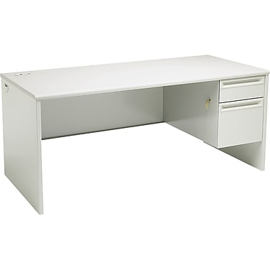 HON 38000 Series in.Lin. Workstation Desk for Left Return, 66in.W, Light Gray/Light Gray