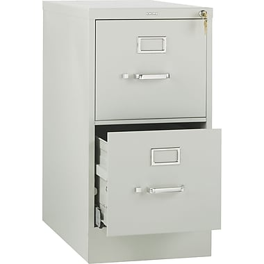 HON 510 Series 2-Drawer Vertical File Cabinet, Letter Size, Light Gray