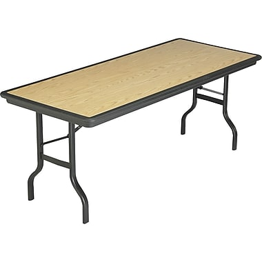 Iceberg 6' Indestruc-Tables™ Folding Table, Light Oak