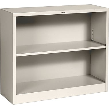 HON® Brigade™ 2-Shelf Metal Bookcase, Putty