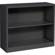 HON® Brigade 2-Shelf Metal Bookcase, Black
