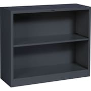 HON® Brigade™ 2-Shelf Metal Bookcase, Charcoal