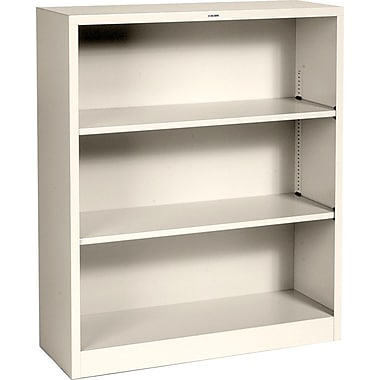HON® Brigade™ 3-Shelf Metal Bookcase, Putty