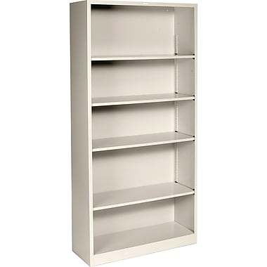 HON® Brigade 5-Shelf Metal Bookcase, Putty
