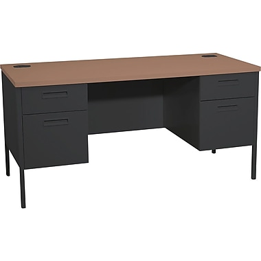 HON Metro Classic 60in. Credenza with Kneespace, Black/ Columbian Walnut