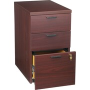 HON® 10500 Series 3-Drawer Mobile Pedestal File, Mahogany