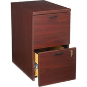 HON® 10500 Series 2-Drawer Mobile Pedestal File, Mahogany