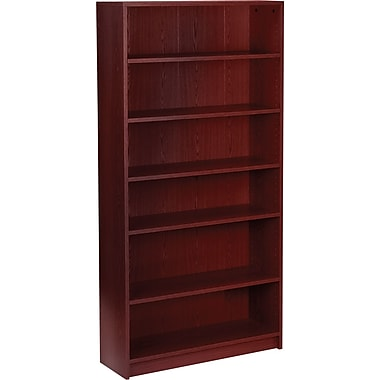 HON 1870 Series Wood Laminate Bookcases - 6-Shelf, Mahogany