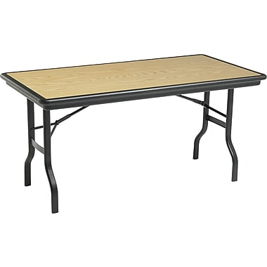 Iceberg 5' Indestruc-Tables™ Folding Table, Light Oak