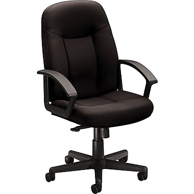 basyx by HON Fabric Mid-Back Managers Chair, Black