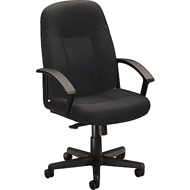 basyx by HON Fabric Mid-Back Managers Chair, Charcoal