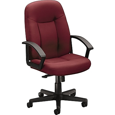 basyx by HON; HON Fabric Mid-Back Managers Chair, Burgundy