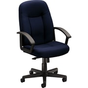 NEXT2017 basyx by HON Fabric Executive Office Chair, Fixed Arms, Navy (HVL601VA90.COM)
