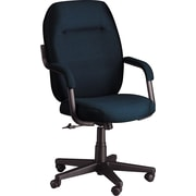 Global® Commerce Series High-Back Blue Fabric Chair