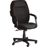 Global® Commerce Series High-Back Asphalt Fabric Chair