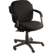 Global® Commerce Series Low-Back Asphalt Fabric Chair