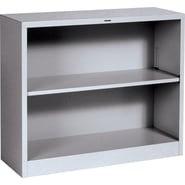 HON® Brigade 2-Shelf Metal Bookcase, Gray