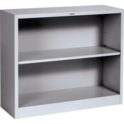 HON® Brigade™ 2-Shelf Metal Bookcase, Gray