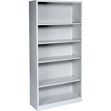 HON® Brigade 5-Shelf Metal Bookcase, Gray