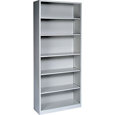 HON® Brigade™ Metal 6-Shelf Bookcase, Gray