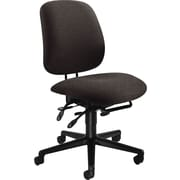 HON® 7700 Series Armless Manager's Chairs with Seat Glide, Black