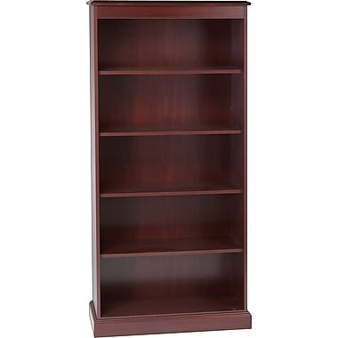 HON® 94000 Series 5-Shelf Bookcase, Mahogany