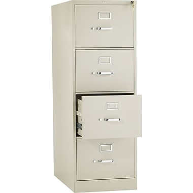 HON 310 Series Vertical File Cabinet, 26 1/2in. 4-Drawer, Legal Size, Putty