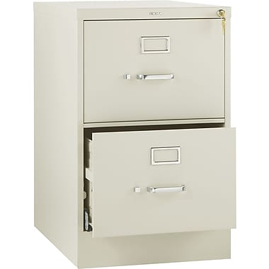 HON 510 Series Vertical File Cabinet, 25in. 2-Drawer, Legal Size, Putty