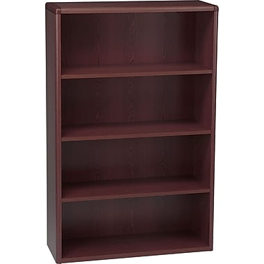 HON 10700 Series, 4-Shelf Bookcase, Mahogany