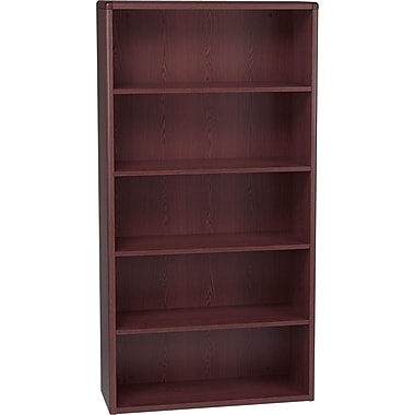 HON 10700 Series, 5-Shelf Bookcase, Mahogany