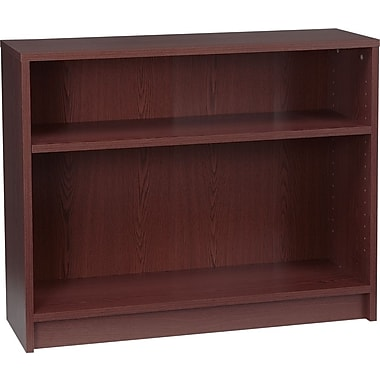 HON 1870 Series Wood Laminate Bookcases - 2-Shelf, Mahogany