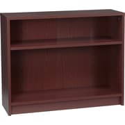 HON® 1870 Series Wood Laminate Bookcases - 2-Shelf, Mahogany