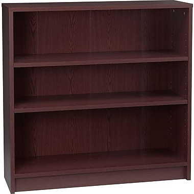 HON 1870 Series Wood Laminate Bookcases - 3-Shelf, Mahogany