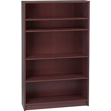 HON 1870 Series Wood Laminate Bookcases - 5-Shelf, Mahogany