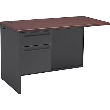 HON 38000 Series Left Return Mahogany/Charcoal