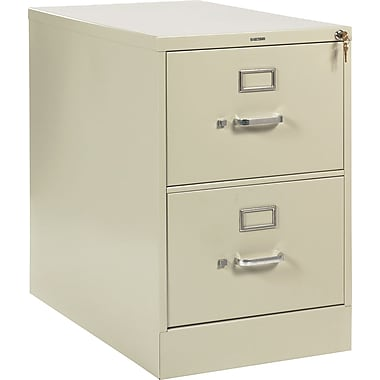 HON 210 Series Vertical File Cabinet, 28 1/2in. 2-Drawer, Legal Size, Putty