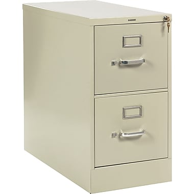 HON 210 Series Vertical File Cabinet, 28 1/2in. 2-Drawer, Letter Size, Putty